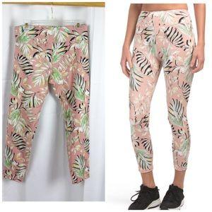 MINKPINK Move Tropical Print Pink Leggings Large